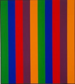Guido Molinari, 1967, Bi sériel orange-vert, 228 x 203 cm, Fondation Guido Molinari