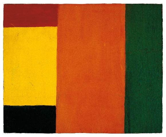 Guido Molinari, Sans titre, 1955, huile sur toile, 54,5 cm x 67, coll. Fondation Guido Molinari, © SODRAC Photo : Guy L'Heureux